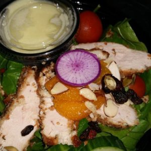 Coconut Encrusted Organic Chicken Salad