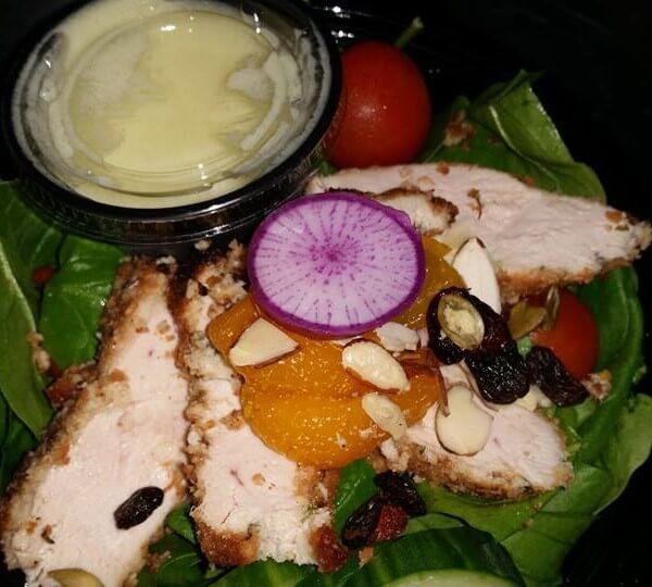 Coconut Encrusted Organic Chicken Salad